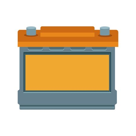 car battery icon over white background, colorful design, vector illustration