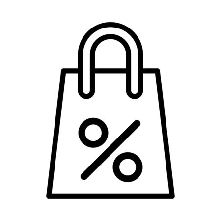 percent symbol in shopping bag vector illustration design