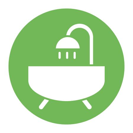 bathtub shower house bathroom icon vector illustration design Ilustração