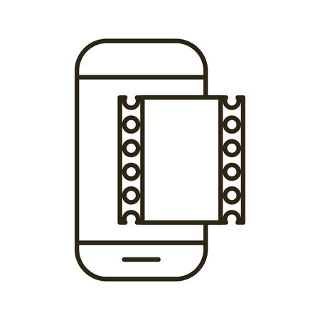 smartphone device with tape film vector illustration design 版權商用圖片 - 143040487