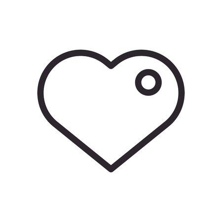 heart love figure line style icon vector illustration design