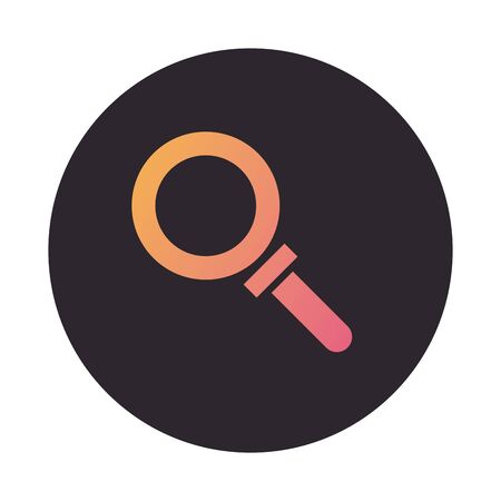 search magnifying glass block style icon vector illustration design
