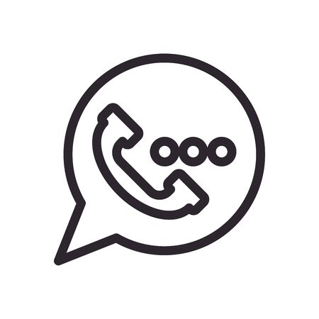 speech bubble message line style icon vector illustration design Ilustrace