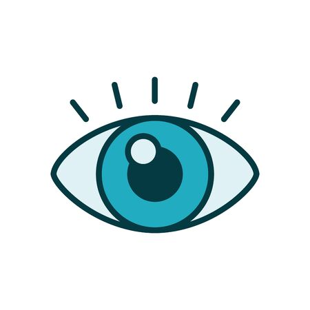 eye view line style icon vector illustration design