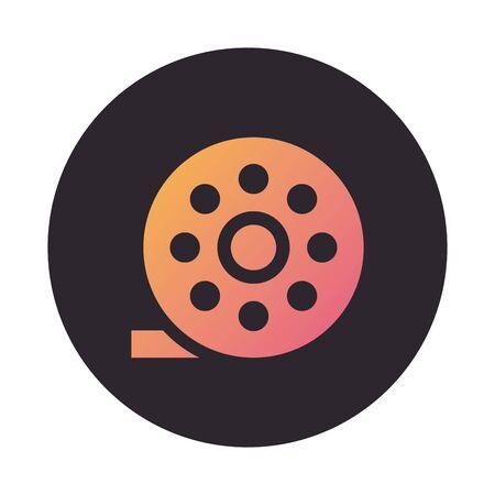 tape film record block style icon vector illustration design Çizim