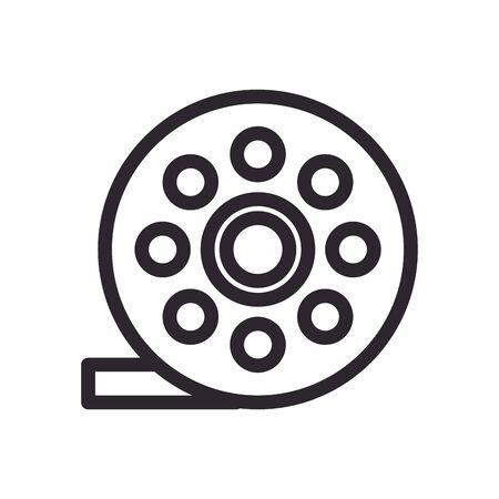 tape film record line style icon vector illustration design