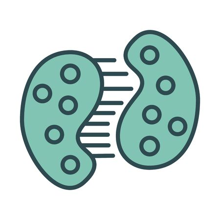 infected cell dividing with covid19 fill style icon vector illustration design Vecteurs