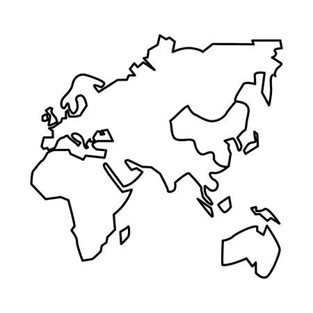 antique continents maps isolated icon vector illustration design