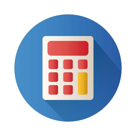 calculator math block style icon vector illustration design Illustration