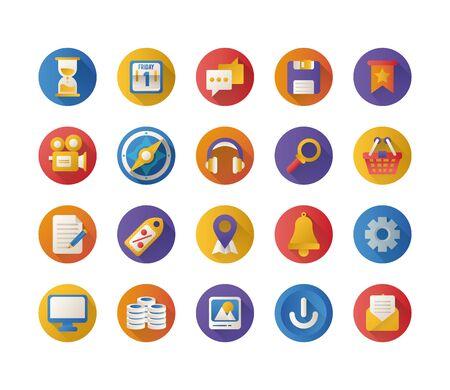 bundle of miscelaneous set icons vector illustration design  イラスト・ベクター素材