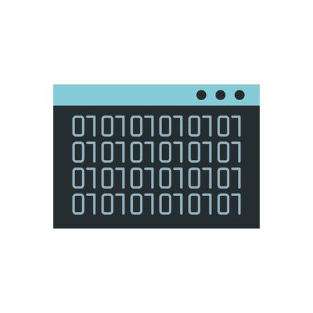 webpage template with binary code numbers vector illustration design