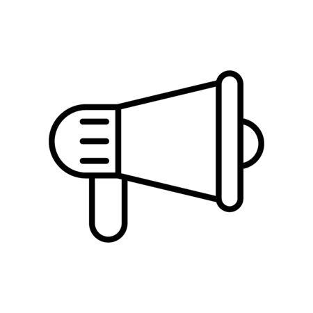 megaphone sound device line style icon vector illustration design Ilustração