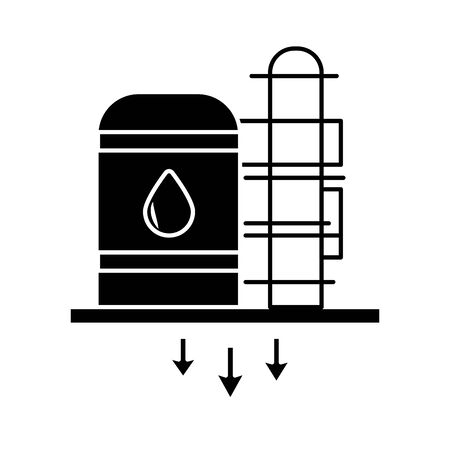 oil tank refinery flat style icon vector illustration design