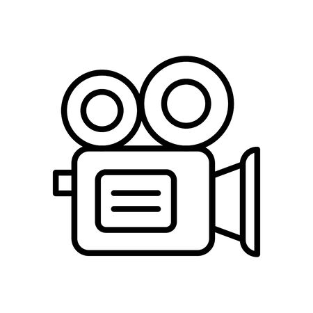 video camera line style icon vector illustration design Ilustração