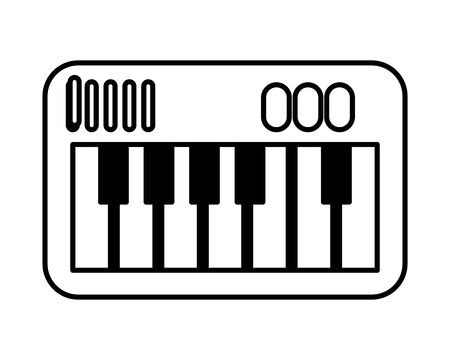 piano instrument musical flat style icon vector illustration design 写真素材 - 143273344