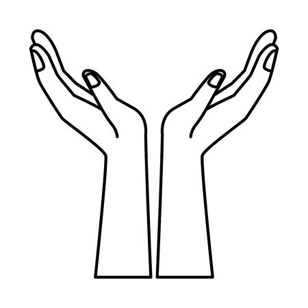 hands human lifting isolated icon vector illustration design