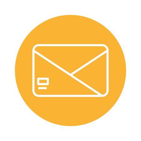 envelope mail send block style icon vector illustration design Standard-Bild - 143273453