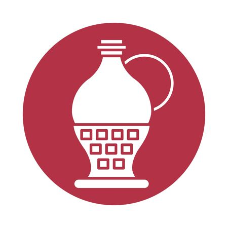 wine jar drink isolated icon vector illustration design