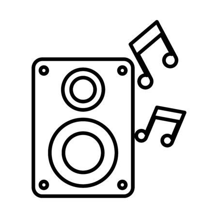 sound speaker audio device icon vector illustration design Ilustração