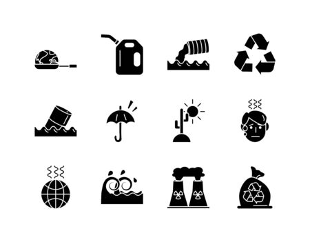 bundle of environment set flat style icons vector illustration design