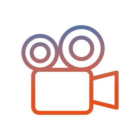 video camera cinema icon image vector illustration design