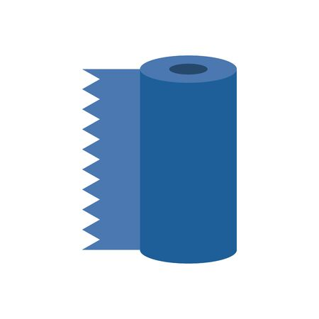 absorbent towels roll flat style icon vector illustration design