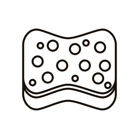 clean sponge line style icon vector illustration design Ilustração