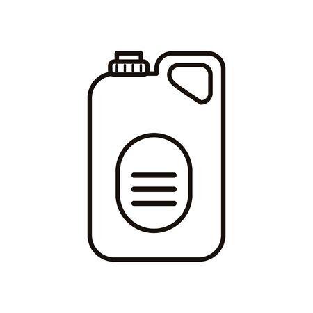 disinfectant plastic gallon bottle product line style vector illustration design