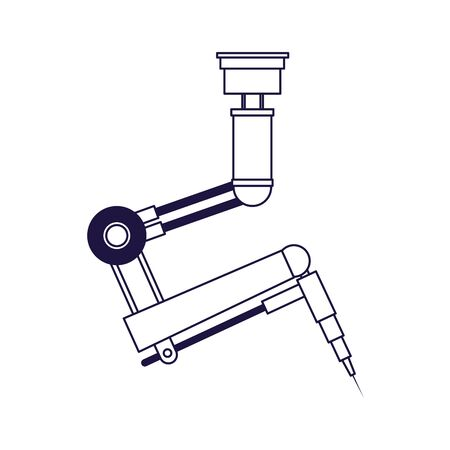arm industrial machine icon over white background, flat design, vector illustration  イラスト・ベクター素材