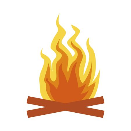 camp fire flame isolated icon vector illustration design 向量圖像