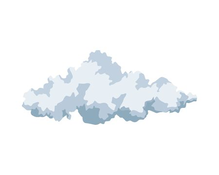 Cloud weather symbol isolated icon vector illustration design Illustration