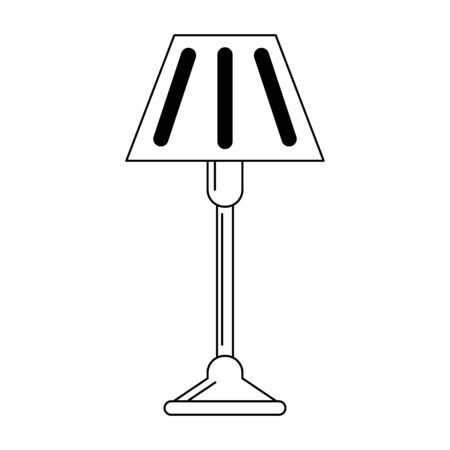 Light lamp symbol isolated vector illustration graphic design