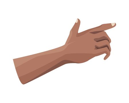 hand human index isolated icon vector illustration design 版權商用圖片 - 143293436