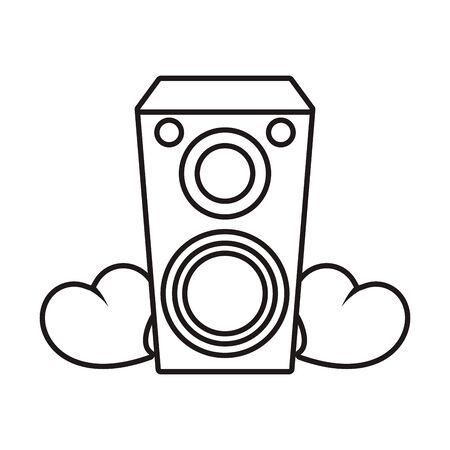 speaker sound audio with hearts love vector illustration design Ilustração