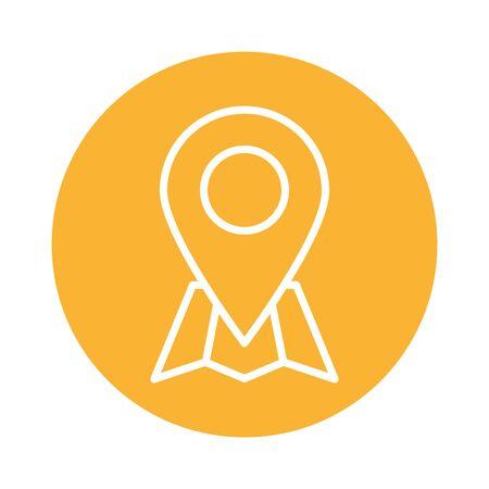 pin pointer location block style icon vector illustration design