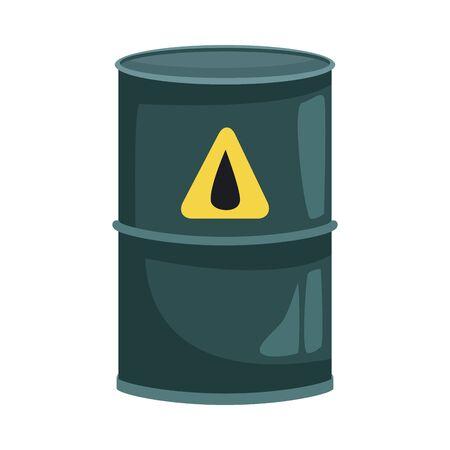 biohazard barrel container isolated icon vector illustration design Vektorgrafik