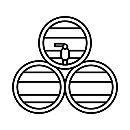 wine barrel drink isolated icon vector illustration design Vetores