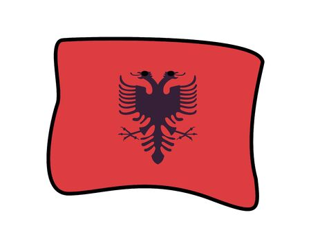 albania flag country isolated icon vector illustration design