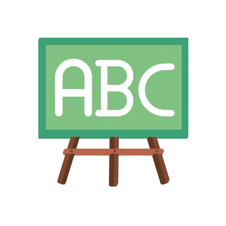 chalkboard with alphabet flat style vector illustration design Иллюстрация