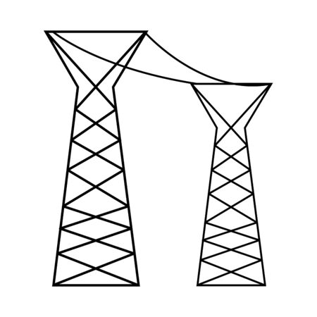 electric post tower isolated icon vector illustration design