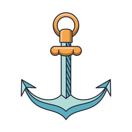 anchor maritime symbol isolated icon vector illustration design Ilustração