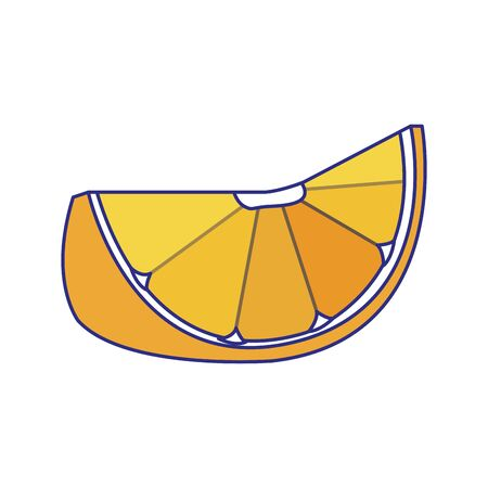 Orange segments icon over white background, vector illustration