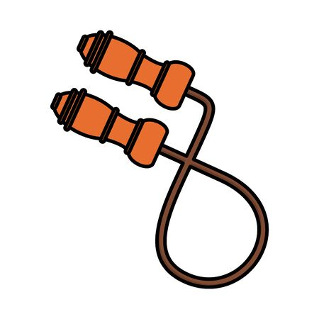 rope jump flat style icon vector illustration design