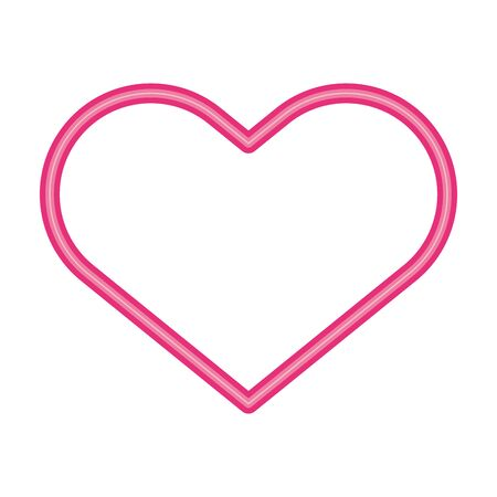 heart love neon lights icon vector illustration design 向量圖像