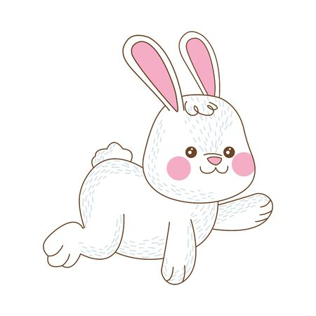 cute little rabbit easter character vector illustration design
