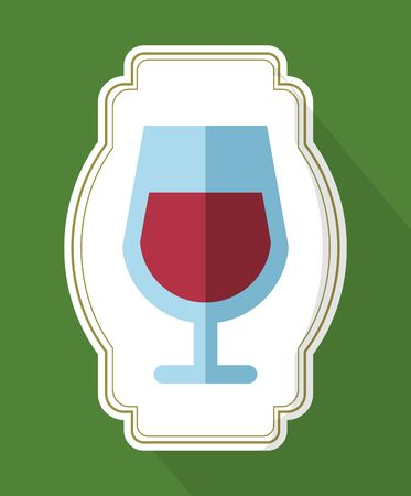 wine cup drink isolated icon vector illustration design 向量圖像