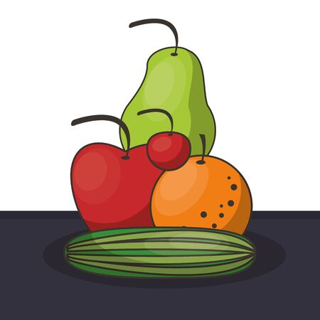 healthy food life style icons vector illustration design