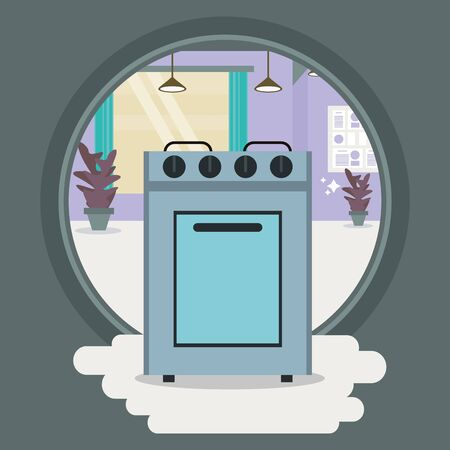 oven home appliance isolated icon vector illustration design