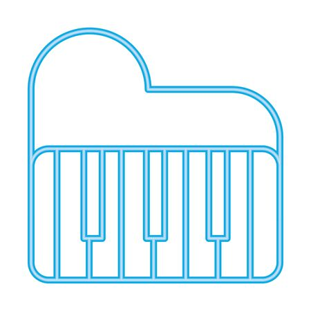 piano instrument musical isolated icon vector illustration design 写真素材 - 143340720