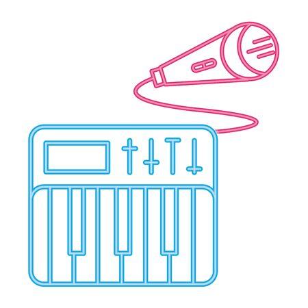 Microphone radio device isolated icon vector illustration graphic design